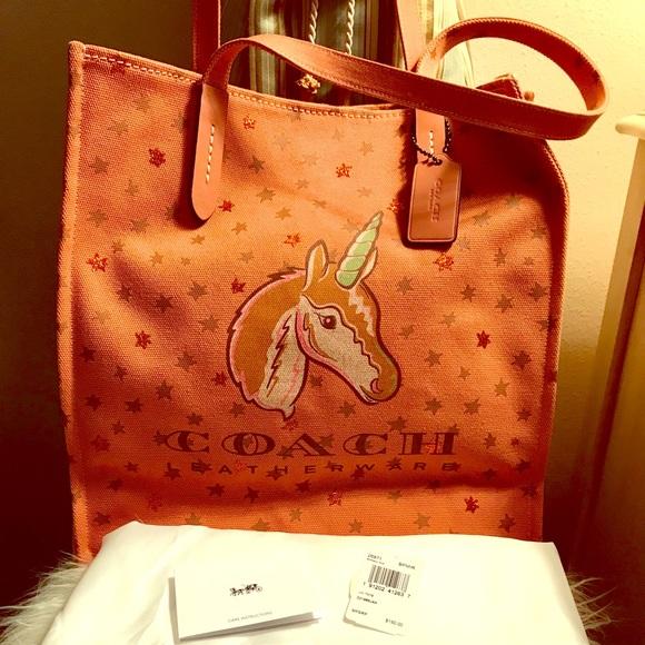 Coach Unicorn Tote Bag